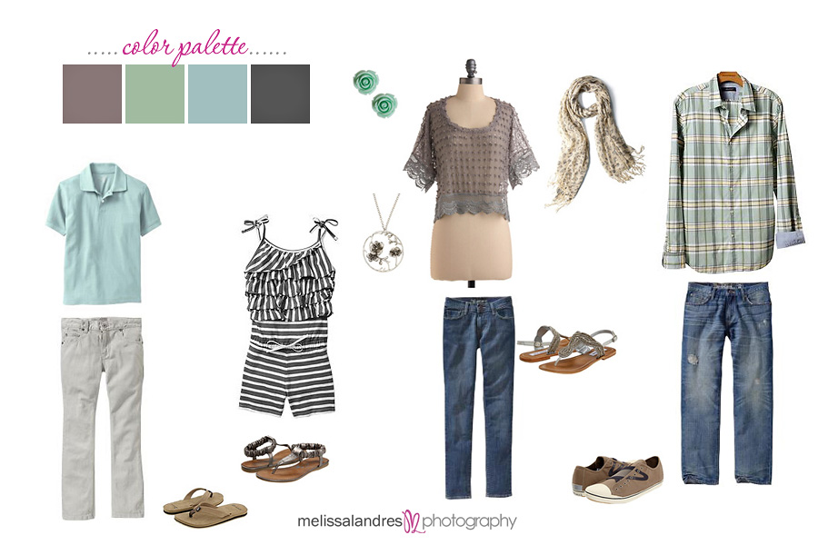 Soft Color Clothing Ideas For Family Photos With Kids
