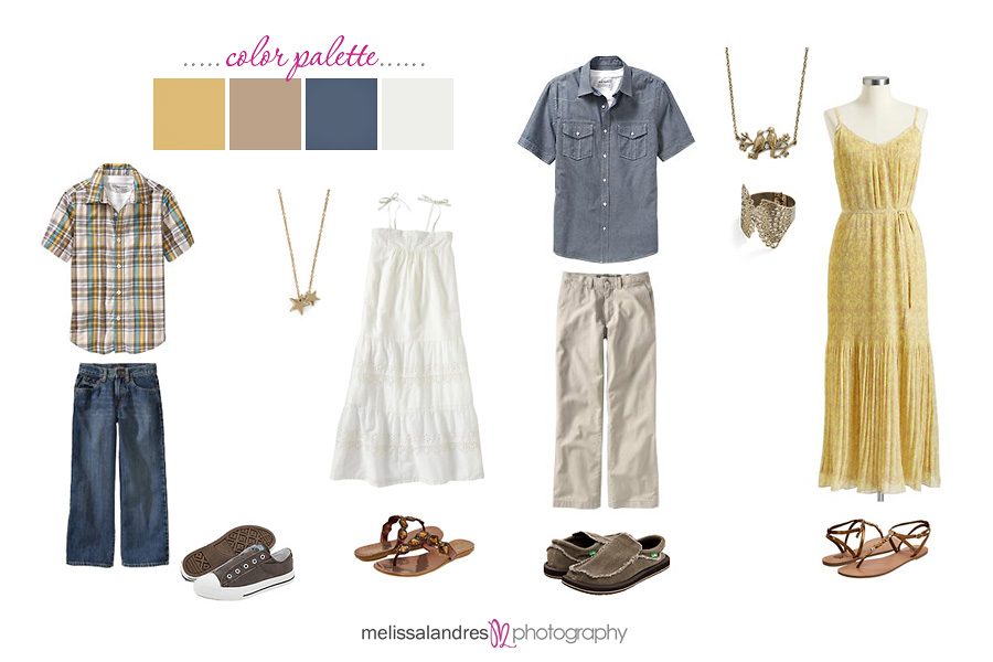 Spring Clothing Ideas For Family Photos With Kids