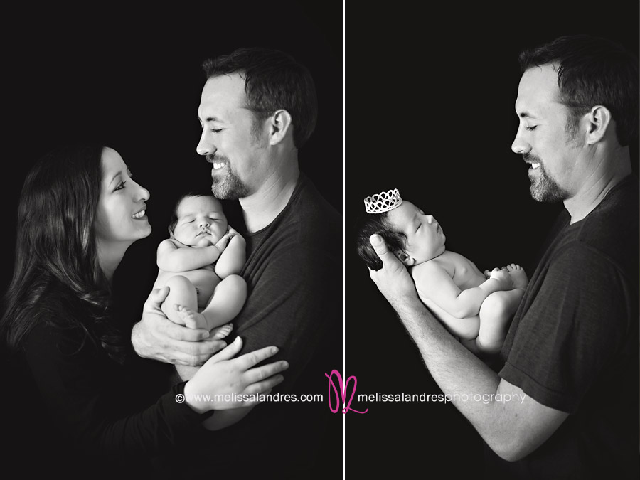 Happy New Parents And Dad With His Daughter By Melisa Landres Photography Sweet Sleeping Baby Photo Newborn Photographer Melissa