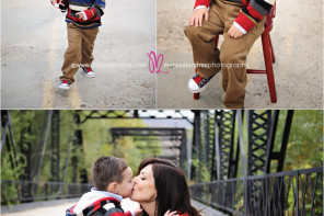 fun outdoor family portraits with kids