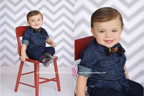baby's first birthday photos, cute chevron, baby bow tie and freshly picked moccasins
