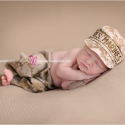 cute Newborn USMC Marines baby props and poses La Quinta baby photographer Melissa Landres