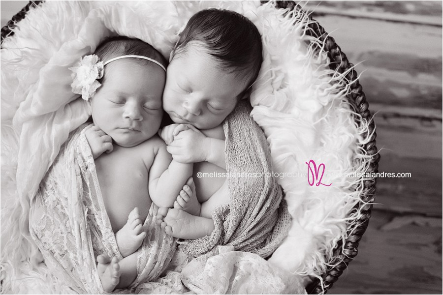 Newborn babies holding hands indio professional newborn baby twins photography melissa