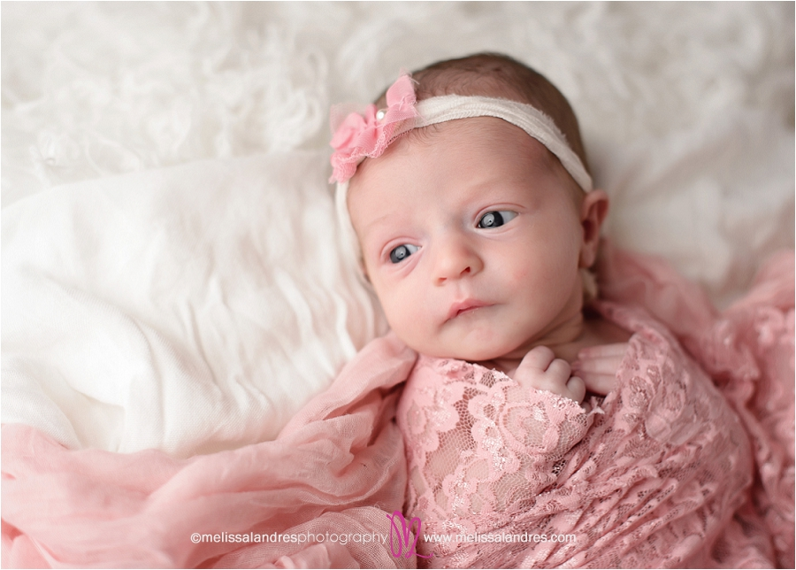 Baby girl newborn baby photos indio melissa landres photograpy
