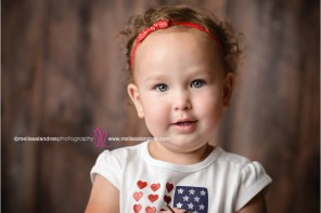 La Quinta kids pictures, themed photo shoots, stars and stripes, american flag shirt with hearts, red, white and blue matching outfits for girls, photographer melissa landres