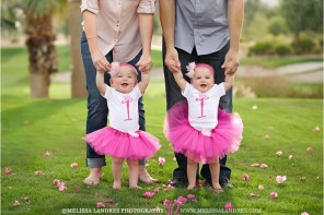 twins first birthday pictures La Quinta baby photographer Melissa Landres