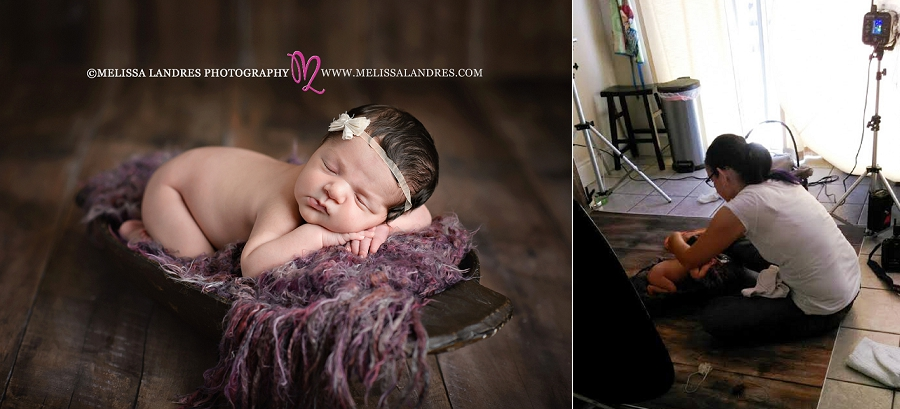behind the scenes photos baby photographer Melissa Landres photography